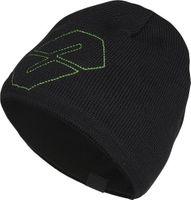 Czapka NEVERLAND HELIX czarno-zielona MerinoWool