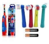 ORAL-B Elektryczna szczoteczka dla dzieci + 5 końcówek + TIMER