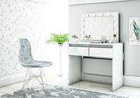 Toaletka z Lustrem Biała Szuflady LU02