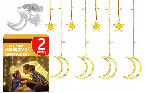 LAMPKI CHOINKOWE LED WISZĄCE KSIĘŻYC GIRLANDA 2m