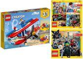 LEGO CREATOR 31076 SAMOLOT KASKADERSKI + 2 KATALOGI LEGO