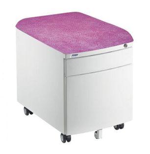 Mayer Szafka/ Pufka 2 szuflady biała/różowa Brak