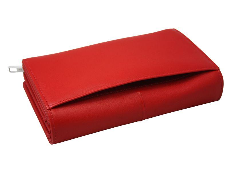 Skórzany, czerwony portfel damski Samsonite RFID zdjęcie 6
