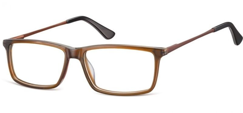Korekcyjne oprawki okularowe damskie męskie brąz zdjęcie 1