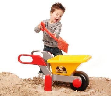 WADER 38944 Duża taczka do piasku, solidna, żółta