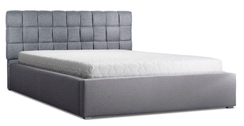łóżko Tapicerowane 160x200 Stelaż Pojemnik Ogranicznik Zagłówek Malta