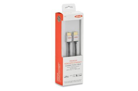 Kabel HDMI Highspeed 2.0 z Eth. HDMI A/HDMI A 1m Ednet