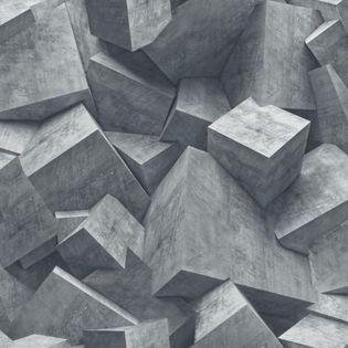 Tapeta Kamień Beton odcienie szaro-niebieskiego Efekt 3D L50501 Ugepa