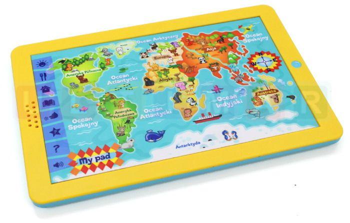 Mapa świata - edukacyjny tablet dla dzieci – język polski zdjęcie 6
