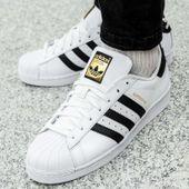 Buty męskie adidas Superstar biało niebieskie G27810 40 23