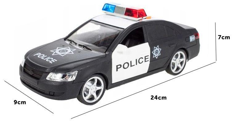 Samochód policyjny Radiowóz interaktywny dźwięki i światła Y259 zdjęcie 5