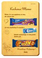 Dzień Mamy prezent Tabliczka DYPLOM Słodycze