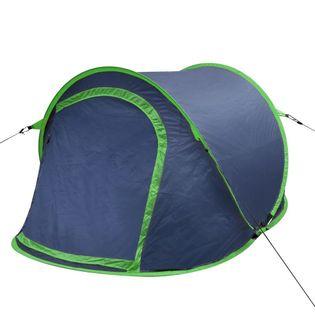Namiot campingowy dla 2 osób granatowy/zielony VidaXL
