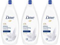 Zestaw 3 x Dove Deeply Nourishing żel pod prysznic 500 ml