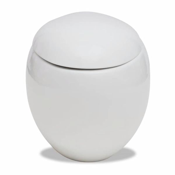 Toaleta wisząca o oryginalnej formie jaja, biała na Arena.pl