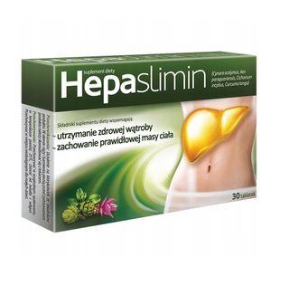 Hepaslimin zdrowa wątroba odchudzanie trawienie 30 tabletek