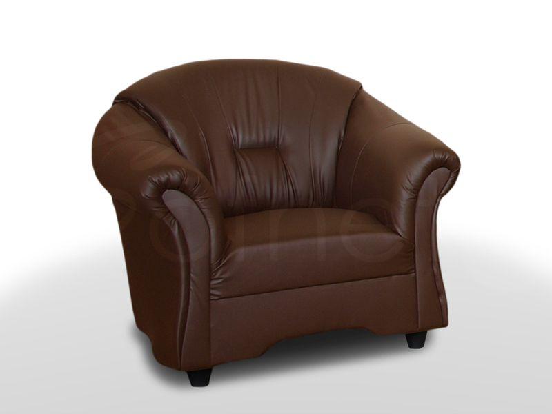Wygodny Fotel Alex do salonu w ekoskórze - Różne kolory zdjęcie 2