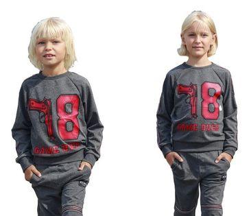 Komplet chłopięcy - grafitowym - Kid's By Voga 110/116