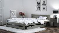 Łóżko 120x200 Sosnowe Szare Zagłówek Stelaż A1