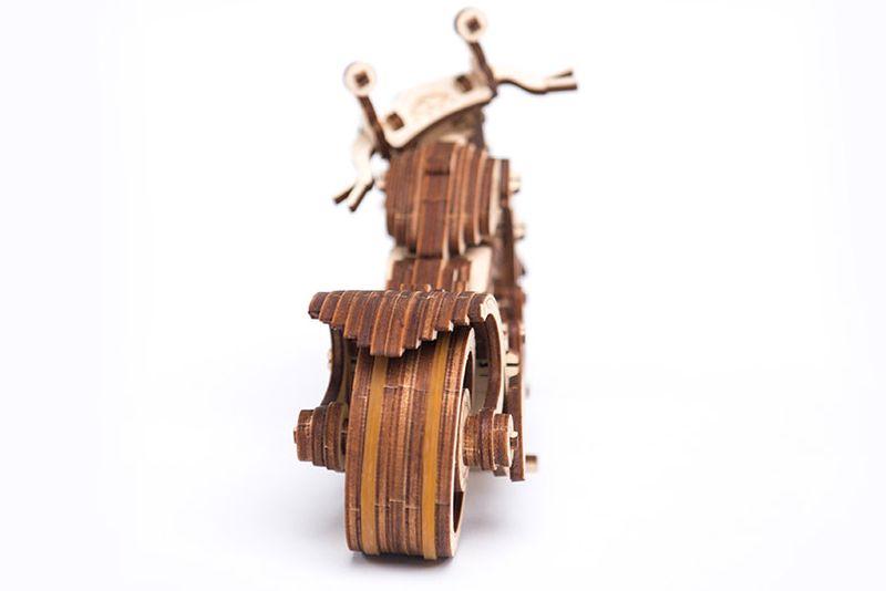Motocykl Mechaniczne Puzzle 3D Drewniane Wooden City zdjęcie 8