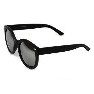 Okulary przeciwsłoneczne kocie czarne lustrzanki