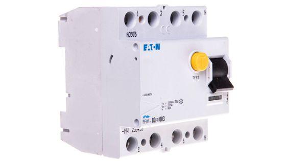 Wyłącznik różnicowoprądowy 4P 80A 0,03A typ AC PFIM-80/4/003 235418 - EATON