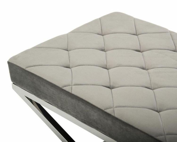 Pikowana pufa siedzisko ławeczka ławka Glamour zdjęcie 4