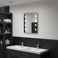 Ścienne lustro łazienkowe z LED 50x60cm VidaXL