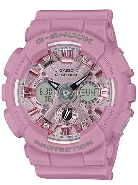 damski zegarek casio g-shock gma-s120dp-6aer róż