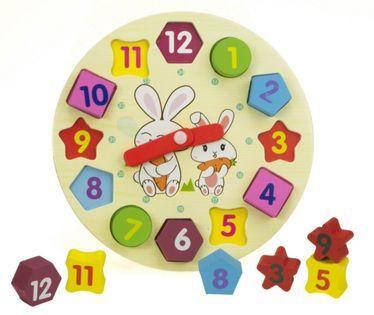 Sorter drewniany zegar edukacyjny dziecko zabawa puzle