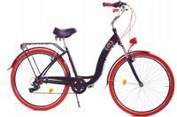 """Rower Dallas City Alu 28"""" 7spd GE - czarny z czerwonym"""