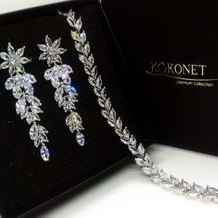 Komplet ślubny MOREE silver + ROSANA silver