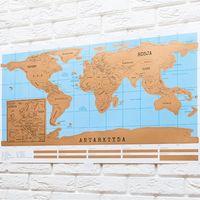 Mapa świata zdrapka WERSJA POLSKA