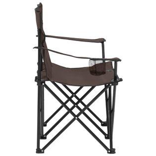 Lumarko 2-os., składane krzesło turystyczne, stal i tkanina, taupe!