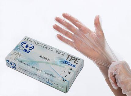 Rękawiczki zastępują nitrylowe TPE 200 sztuk M