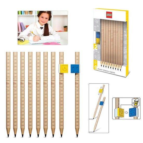 LEGO 9szt ołówków OŁÓWKI KOMPLET KLOCKI zdjęcie 1