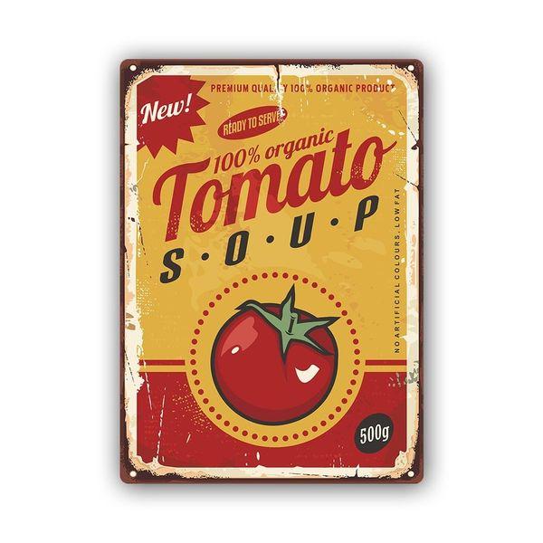 Wydruk na metalu, Retro – pomidorowa 40x60 zdjęcie 1