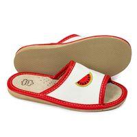 Kapcie klapki pantofle dziecięce haft skórzane ARBUZ