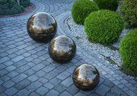 Kula ogrodowa Era 50cm kula dekoracyjna z żywicy poliestrowej Czarno-Złota