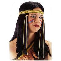 peruka DŁUGIE włosy proste czarne INDIANIN western