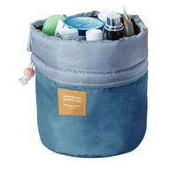 Wysoka damska kosmetyczka worek ze ściagaczem Kolor Niebieski