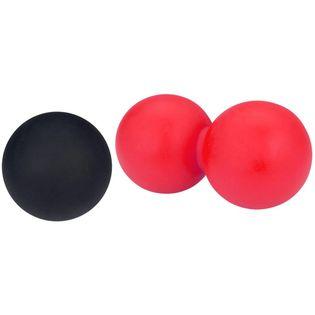 Avento Piłki Do Lacrosse/masażu, Zestaw, Różowo-Czarny