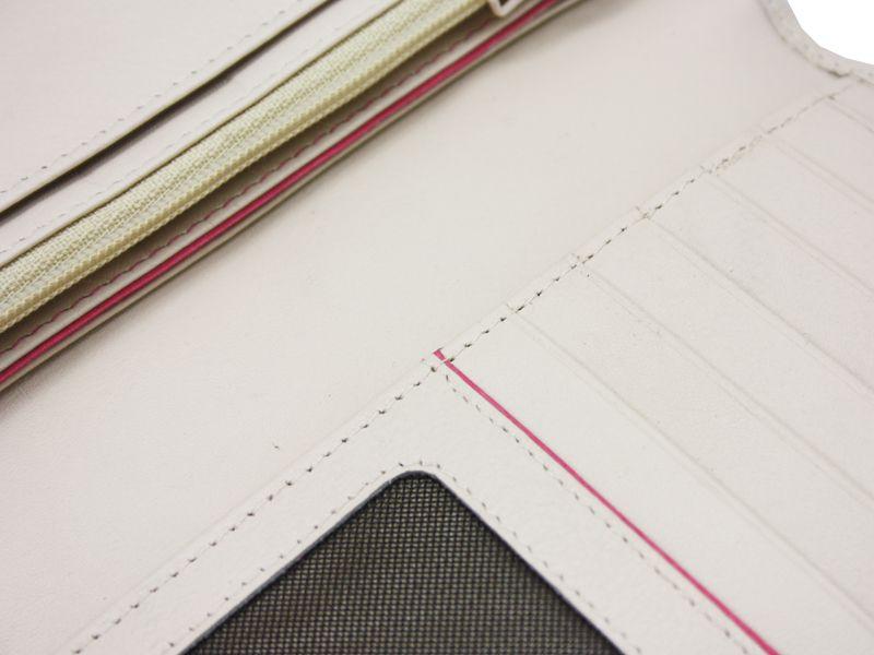 Damski, skórzany portfel w kolorze kremowym Valentini zdjęcie 7
