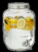 Słój o pojemności 4L z kranikiem na lemoniadę