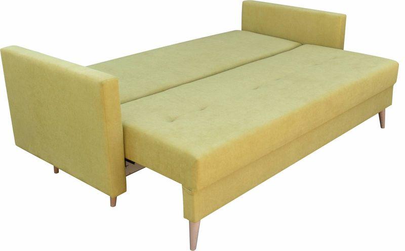 Kanapa rozkładana z funkcją spania na sprężynach, zmywalna sofa Lahti zdjęcie 12