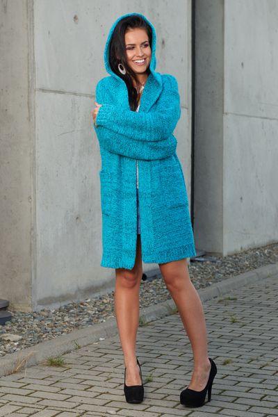 Mięciutki otulający Kardigan sweter melanż 103 zdjęcie 4