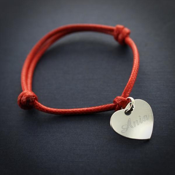 Srebrne SERCE bransoletka PREZENT na WALENTYNKI zdjęcie 2