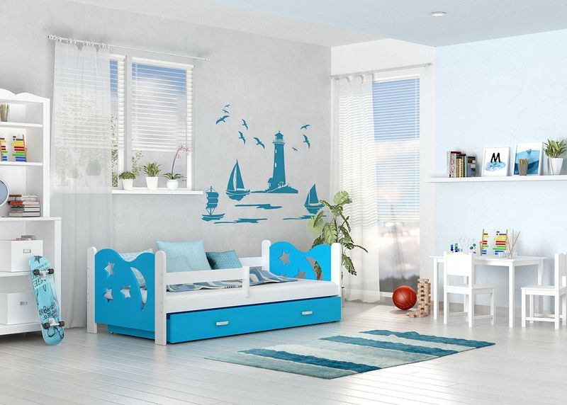Łóżko dla dzieci MIKOŁAJ COLOR 160x80  szuflada + materac zdjęcie 3
