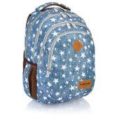 Plecak szkolny młodzieżowy Astra Head HD-109, niebieski w gwiazdki