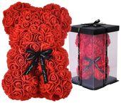 Miś z Róż 40cm Rose Bear Urocza Maskotka na Walentynki U111